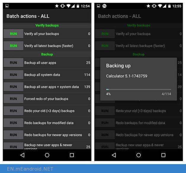 AndroidPIT Titanium Backup batch actions backing up
