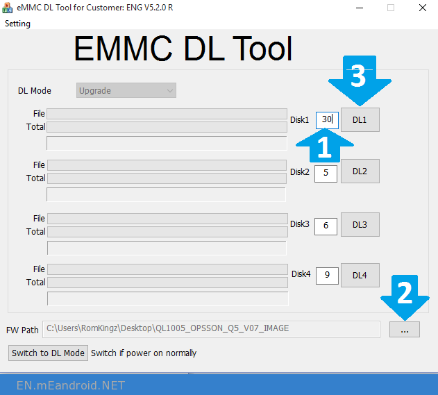 How to use and Download eMMC DL Tool for Windows 2017
